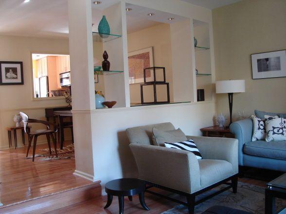 Living Room Half Wall Room Divider Ideas
