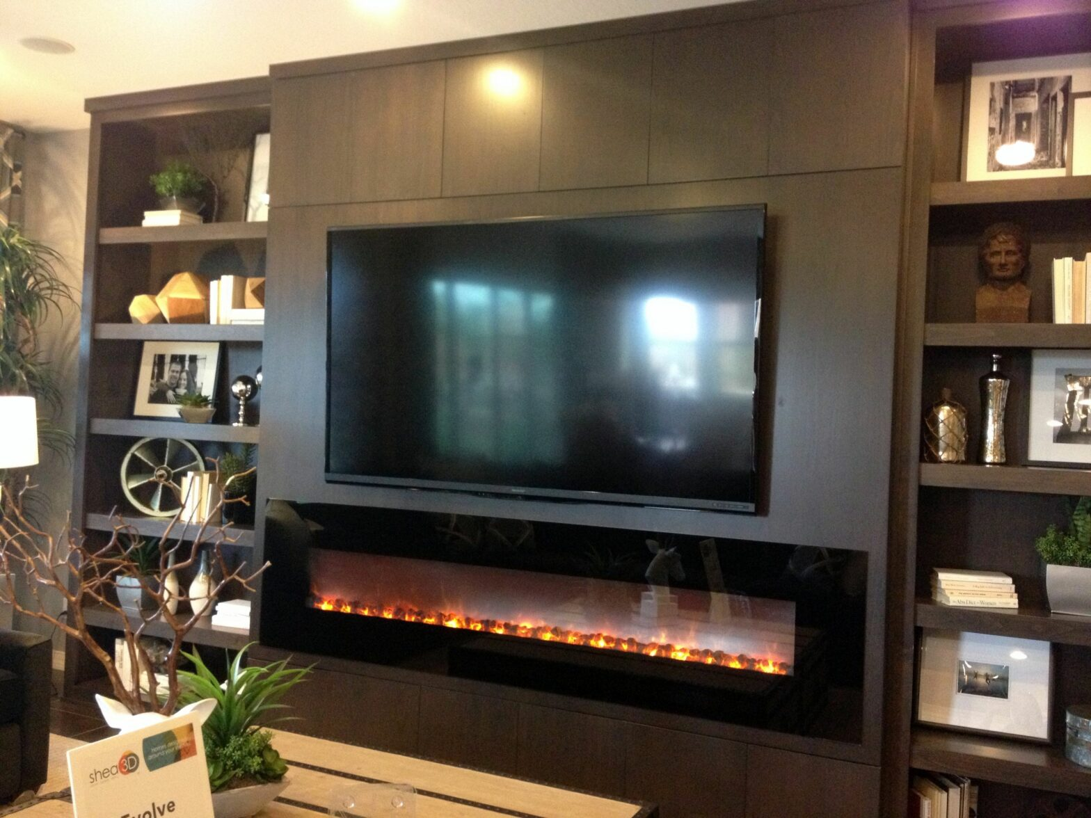 Living Room Entertainment Center With Fireplace