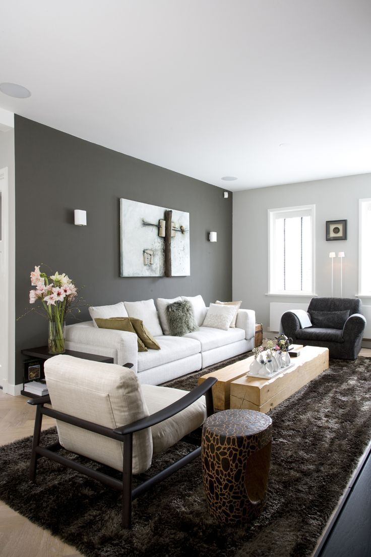 Living Room Gray Walls